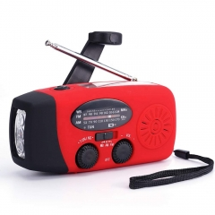 Emergency Soalr Weather Portable Camping Am Fm Solar Hand Crank Radio